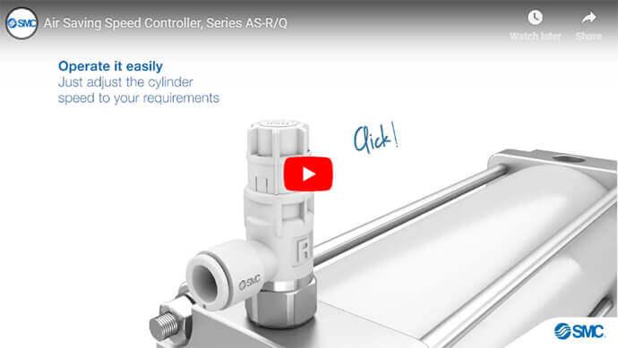 Air Saving Speed Controller, AS-R/Q Series