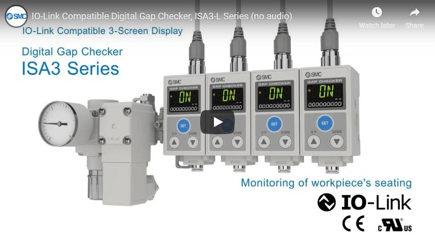 IO-Link Compatible Digital Gap Checker, ISA3-L Series