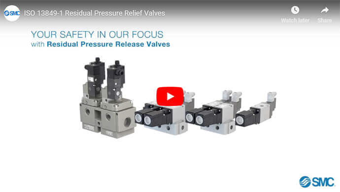 ISO 13849-1 Residual Pressure Relief Valves