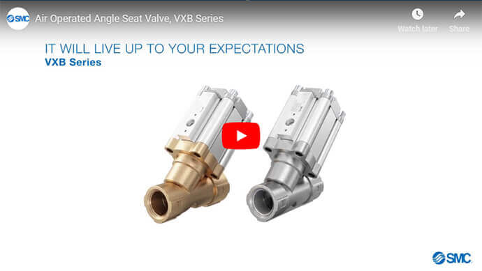 Air Operated Angle Seat Valve, VXB Series