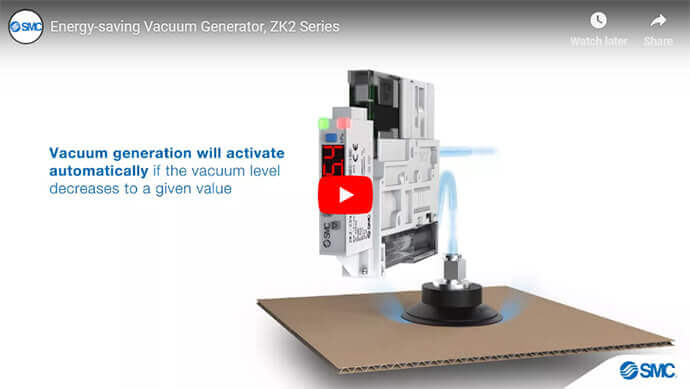 Energy Saving Vacuum Generator, ZK2 Series
