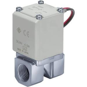 VX2*4, Single Unit, Direct Operated 2 Port Solenoid Valve for Medium Vacuum
