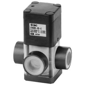 LVA200, 3 Port High Purity Chemical Valve, Air Operated, Threaded Type
