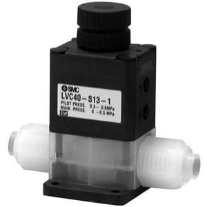 LVC, High Purity Chemical Valve, Air Operated, Integral Fitting, Single Type