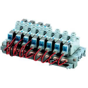 10-SS5YJ5-43P, Manifold (5 Port/Base Mount), Clean Series