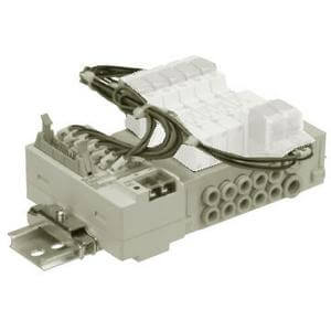 SS5Y3-45-*A, 3000 Series, Stacking Manifold, DIN Rail Mount, Connector Box