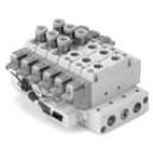 SS5Y9-23SA, 9000 Series, Body Ported Manifold, Serial Transmission System, Stacking Type