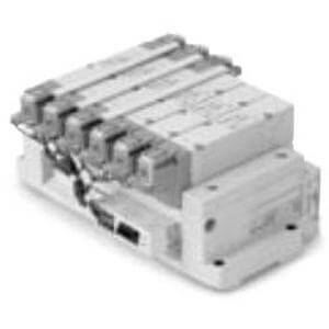 SS5Y9-43SA, 9000 Series, Base Mounted Manifold, Serial Transmission System, Stacking Type