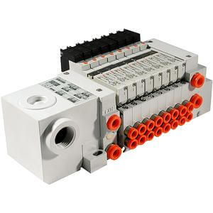 VV5Q11-T,1000 Series, Base Mounted Manifold, Plug-in Type, Terminal Box