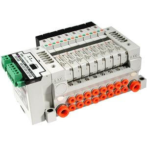 10/21-VV5Q11, 1000 Series, Base Mounted Manifold, Plug-in Unit, Clean Series