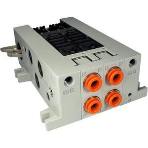 VV5Q41-L, 4000 Series, Base Mounted Manifold, Plug-in, Lead Wire Cable