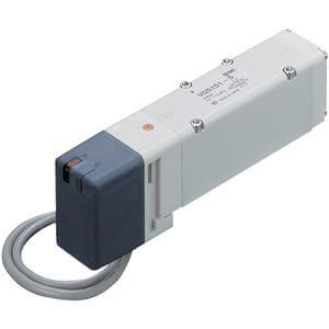 VQ5*5*, 5000 Series, 5 Port Solenoid Valve, Plug Lead, Base Mounted