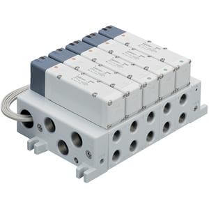 VV5Q51-L, 5000 Series, Base Mounted Manifold, Plug-in, Lead Wire Cable