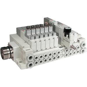 SS5V1-W16C, 1000 Series, Cassette Base Manifold, Circular Connector