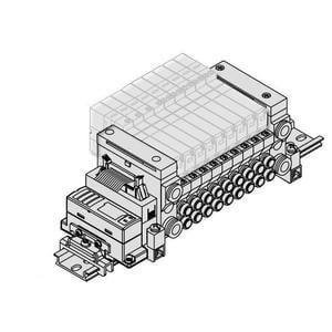 VV5Q11-SB, Base Mounted Manifold for EX510 Gateway Type Serial Transmission System