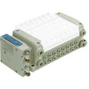 VV5QC21-S, 2000 Series, Base Mounted Manifold, Plug-in, Integrated-type for Output (for EX260)