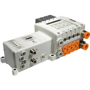 VV5QC21-S, 2000 Series, Base Mounted Manifold, Plug-in, I/O Serial Transmission Unit (EX250)
