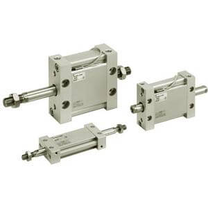 M(D)UW Plate Cylinder, Double Acting, Double Rod w/Auto Switch Mounting Groove