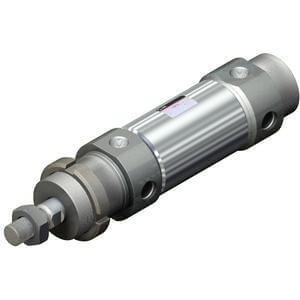 C76-XB6, Air Cylinder, Double Acting, Single Rod, High Temperature