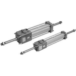 C(D)LA2W, Locking Air Cylinder, Double Acting, Double Rod