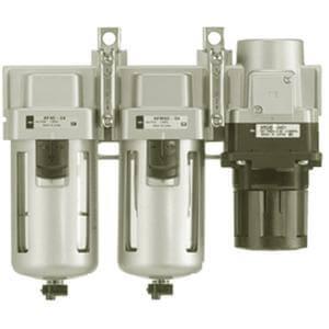 ACG20C~40C (FMR), Air Filter, Regulator w/Built-in Pressure Gauge, Mist Separator