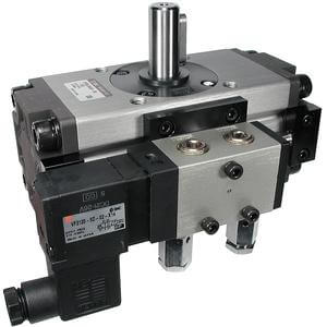 C(D)VRA1 (50-100), Rotary Actuator with Valve