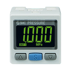 ZSE30A, Digital Pressure Switch, 2-Color Display, High Precision for Vacuum