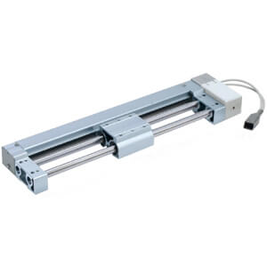 LEL Electric Actuator/Guide Rod Slider, Belt Drive, Step Motor (Servo/24 VDC)