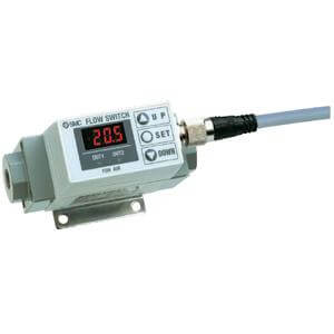 PF2A7**, Digital Flow Switch for Air, Integrated Display Type