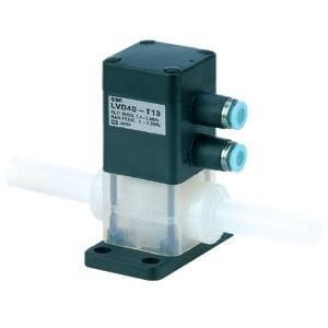 LVD-T, 2 Port, High Purity Chemical Valve, Integral Tubing Type