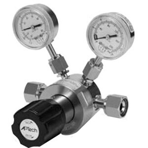 AP1900, Single Stage Regulator for Ultra High Purity, Low to Intermediate Flow, Tied-Diaphragm