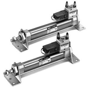 C(D)VM5K, Valve Mounted Cylinder, Non-rotating, Double Acting