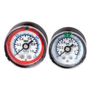 G36-L/G46-L, Pressure Gauge w/Limit Indicator, Color Zone Type