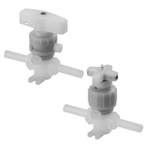 LVQH-T, 2 Port Chemical Valve, Tube Extension Fitting Type, Manual Operation