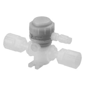 LVQS-Z, 2 Port Chemical Valve, Air Operated, Flare Integral Fitting Type (LQ3), Space Saving