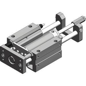 MGGM-XC8/XC9, Standard External Guided Cylinder with Stroke Adjuster, Slide Bearing