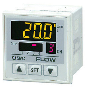 PF2D20, Digital Flow Switch for 4-Channel Flow Monitor, Remote Type Display Unit