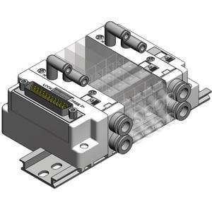 SS5J3-F, Plug-in Manifold, D-Sub Connector Kit