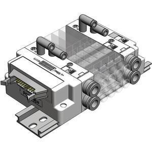 SS5J3-J, Plug-in Manifold, PC Wiring (20P)