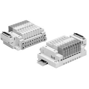 10-SS5V*-*FD, D-Sub Connector Manifold Base, Clean Series