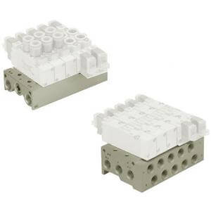 10-SS5Y9-43, Base Mounted Manifold, Stacking, Individual Wiring, Clean Series