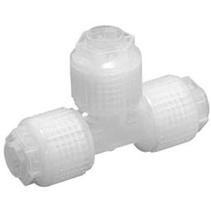 LQ1T-SS, High Purity Fluoropolymer Fitting, Space Saving, Union Tee