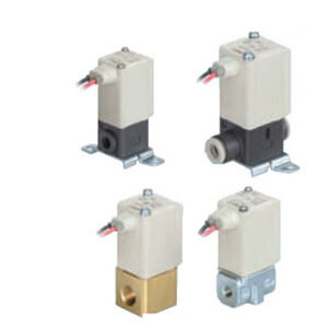 VDW22/24, Compact Direct Operated 2 Port Solenoid Valve for Medium Vacuum/Water, Single Unit