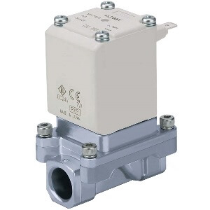 VXZ2*5, Pilot Operated, 2 Port Solenoid Valve for Heated Water, Single Unit