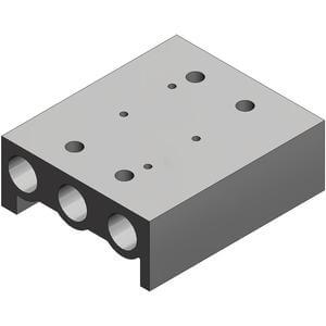 SS5YJA5, 5000 Series, Bar Stock Manifold, Individual Wiring