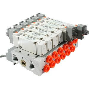 SS5Y5-**P, 5000 Series, Bar Stock Manifold, Flat Ribbon Cable Connector