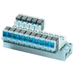 10-SS5YJ3-*46, Manifold (5 Port/Base Mount), Common SUP/Individual EXH, Clean Series