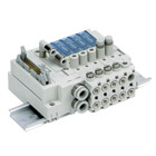 SS3J3-V60, Non Plug-in, Individual Wiring, Manifold for SJ3A6 Series Vacuum Release Valve w/Restrictor