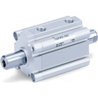 C(D)Q2KW-Z, Compact Cylinder, Double Acting, Double Rod, Non-rotating