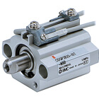 C(D)QP2B, Compact Cylinder, Single Acting, Single Rod, Axial Piping